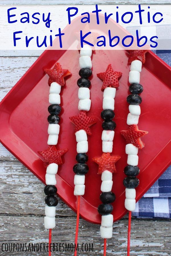 Easy Patriotic Fruit Kabobs