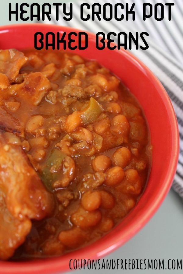 Hearty Crock Pot Baked Beans