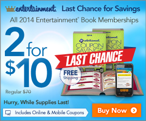 entertainment MONEY MAKER: 86% off Entertainment Books only $5 each {$1000s worth of coupons}!