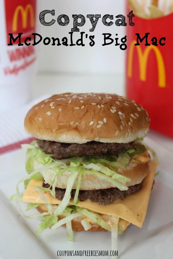 Copycat McDonalds Big Mac