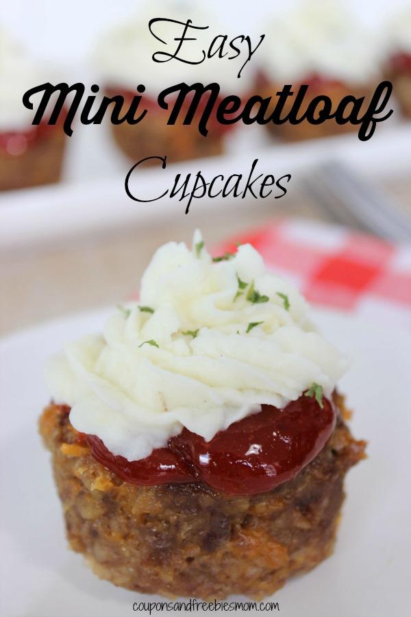 Easy Mini Meatloaf Cupcakes