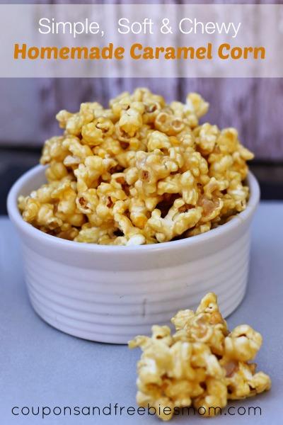Soft Homemade Caramel Corn