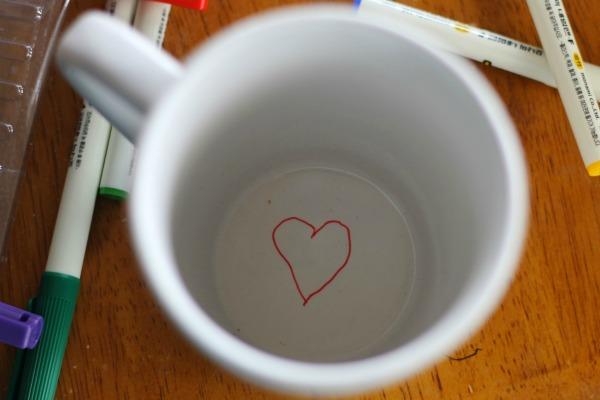 diy sharpie mug inside