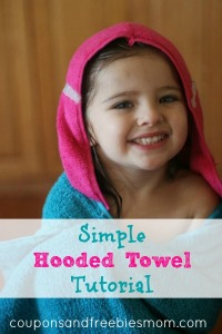 simple hooded towel tutorial