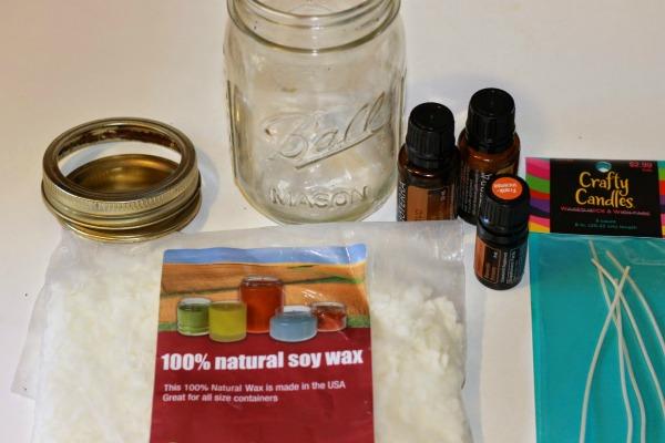 mason jar candle ingredients