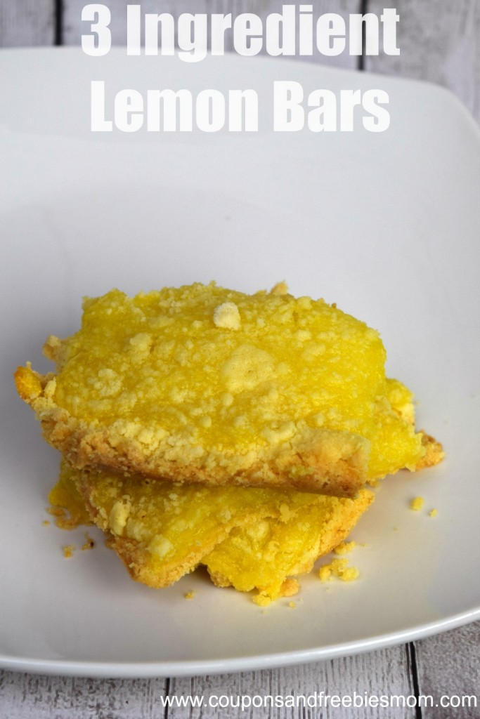 3 Ingredient Lemon Bars