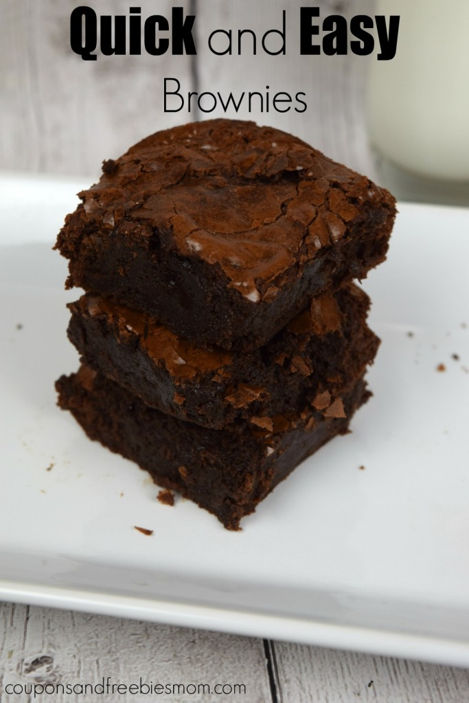 quick and easy brownies best basic recipe from scratch. Black Bedroom Furniture Sets. Home Design Ideas