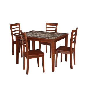 Essential Home Jackson 5 Pc. Faux Marble Dining Set Deal At ...