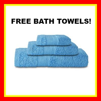 blue bath towel free 400 red border