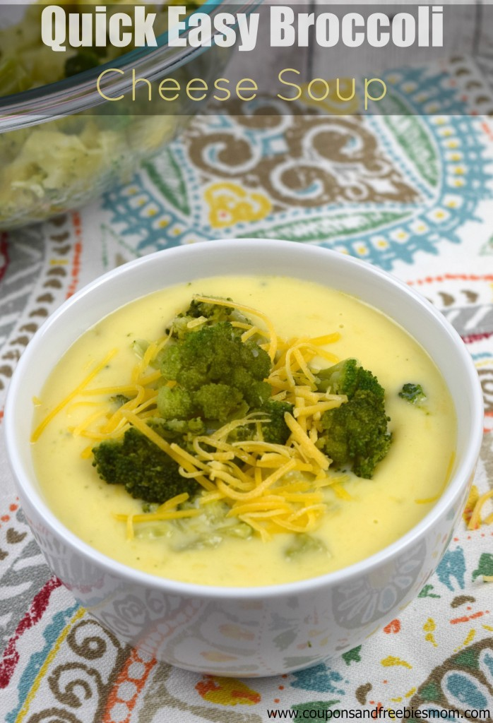 Quick Easy Broccoli Cheese Soup