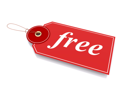 free red tag sticker