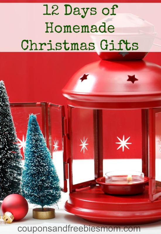 12 Days of Homemade Christmas Gifts