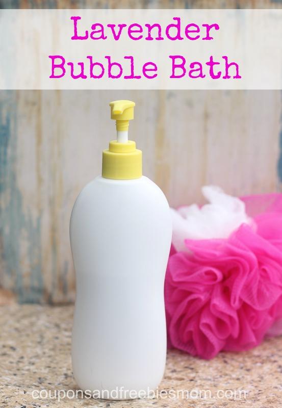 Homemade Lavender Bubble Bath