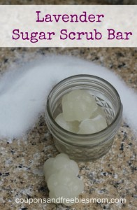 Homemade Lavender Sugar Scrub Bars