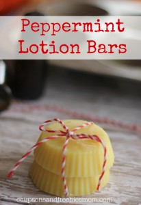 Homemad Peppermint Lotion Bars