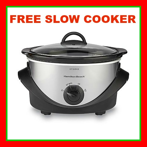 FREE SLOW COOKER KMART RED BORDER hamilton beach 4 quart slow cooker shop your way kmart