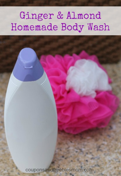 Ginger Almond Homemade Body Wash