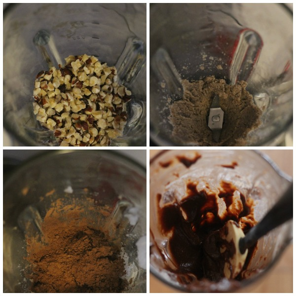homemade nutella collage