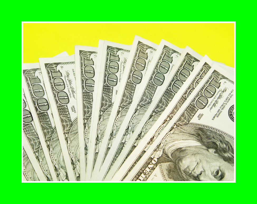 cash yellow background green border