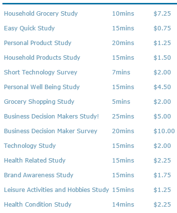 coupons and freebies mom survey panel screenshot 12315