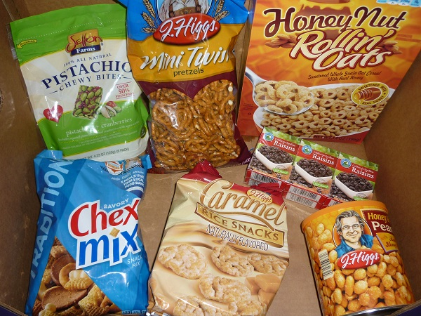 snack mix ingredients small