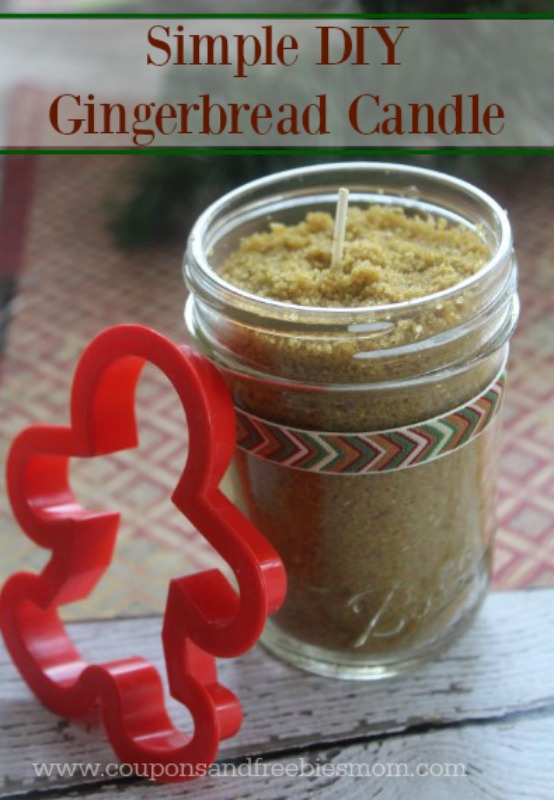 DIY Gingerbread Candle - easy homemade candle, great scent