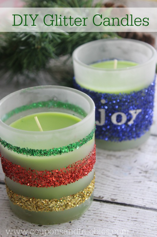 DIY Glitter Candles - Easy Homemade Gift Idea