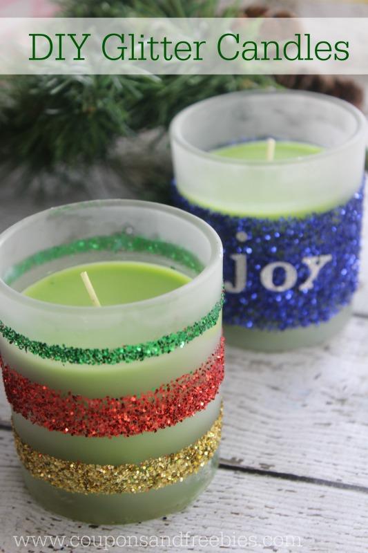 DIY Glitter Candles - Easy Homemade Gift Idea