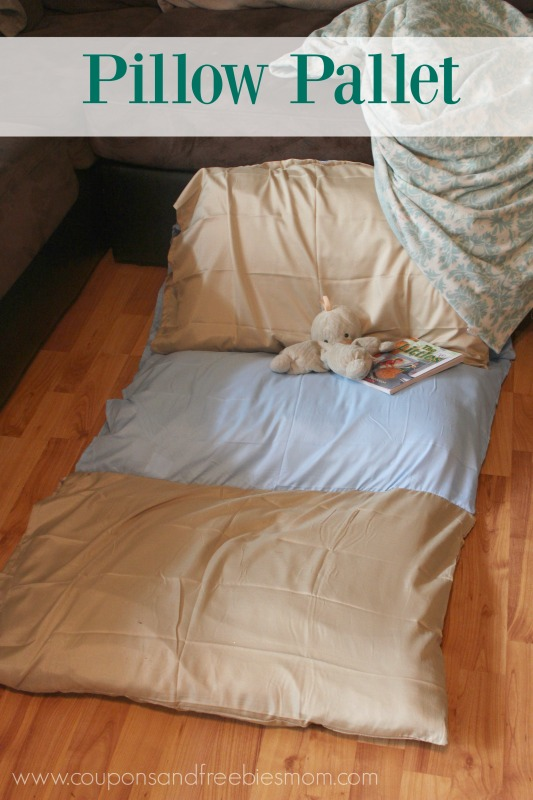 Kid's Homemade Pillow Bed / Chair Pillow Pallet