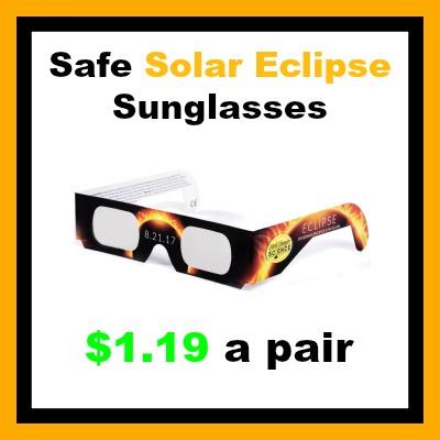 safe solar eclipse sunglasses pair