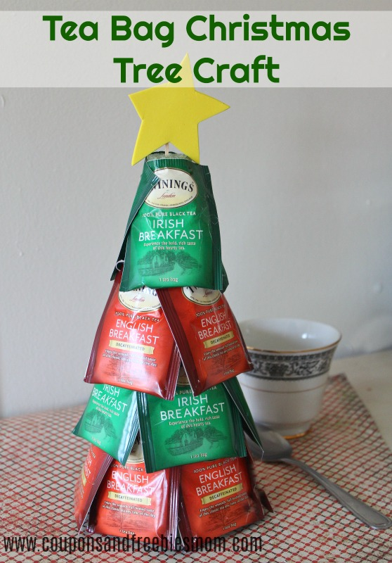 Tea Bag Christmas Tree Craft