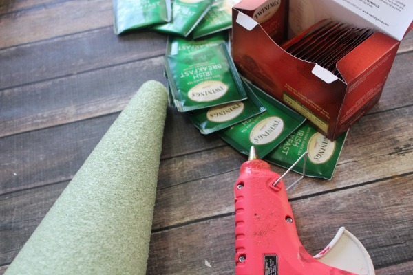 Tea Bag Christmas Tree Craft supplies
