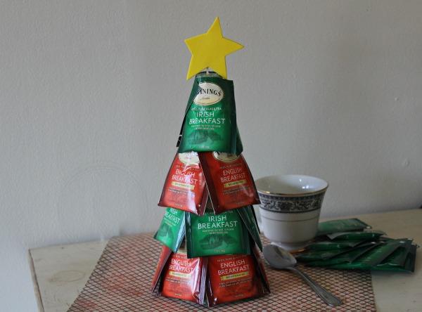 Tea Bag Christmas Tree Craft Example