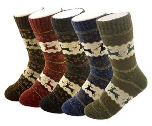 Pack of 5 Women's Thick Wool Crew Socks