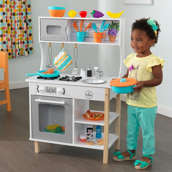 Kidkraft All Time Play Kitchen 59 99 At Walmart Black