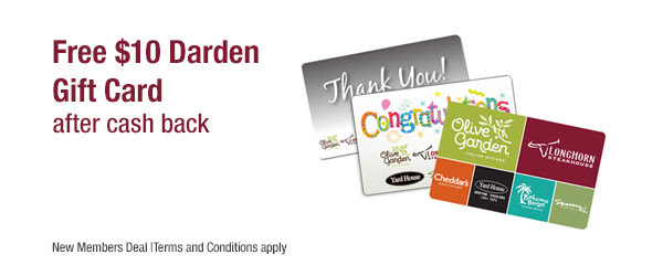 Free 10 olive garden longhorn steakhouse cheddars gift - Where can i use olive garden gift card ...