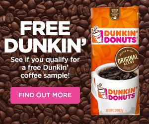 Dunkin Donuts Free Coffee