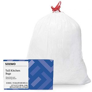 Solimo Tall Kitchen Drawstring Trash Bags Deal On Amazon