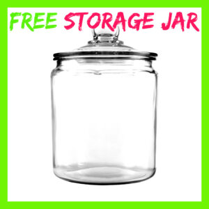 Free Large Glass Storage Jar