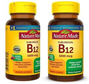 Compre uma vitamina natural Sublingual B12, ganhe uma GRÁTIS 1