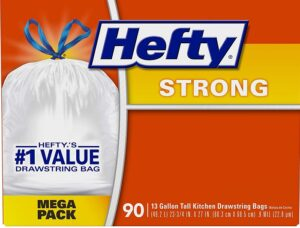 90ct Hefty Strong Kitchen Trash Bags 10 06 Coupons And
