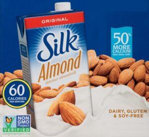 6 pedaços de leite de amêndoa sem açúcar de seda $ 10.02 4