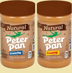 12 Potes de Manteiga de Amendoim Crocante Natural Peter Pan $ 18.23