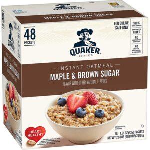48ct. Farinha de Aveia Instantânea Quaker Maple & Sugar Brown $ 9.10 3