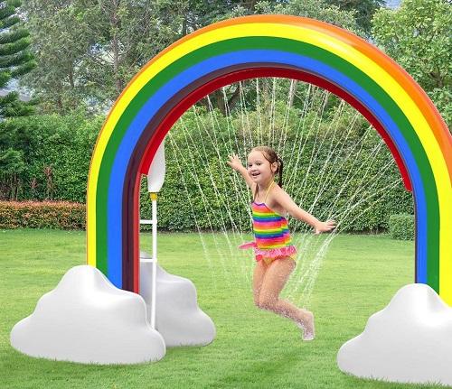 Aspersor inflável ao ar livre do arco-íris $ 43.99 12